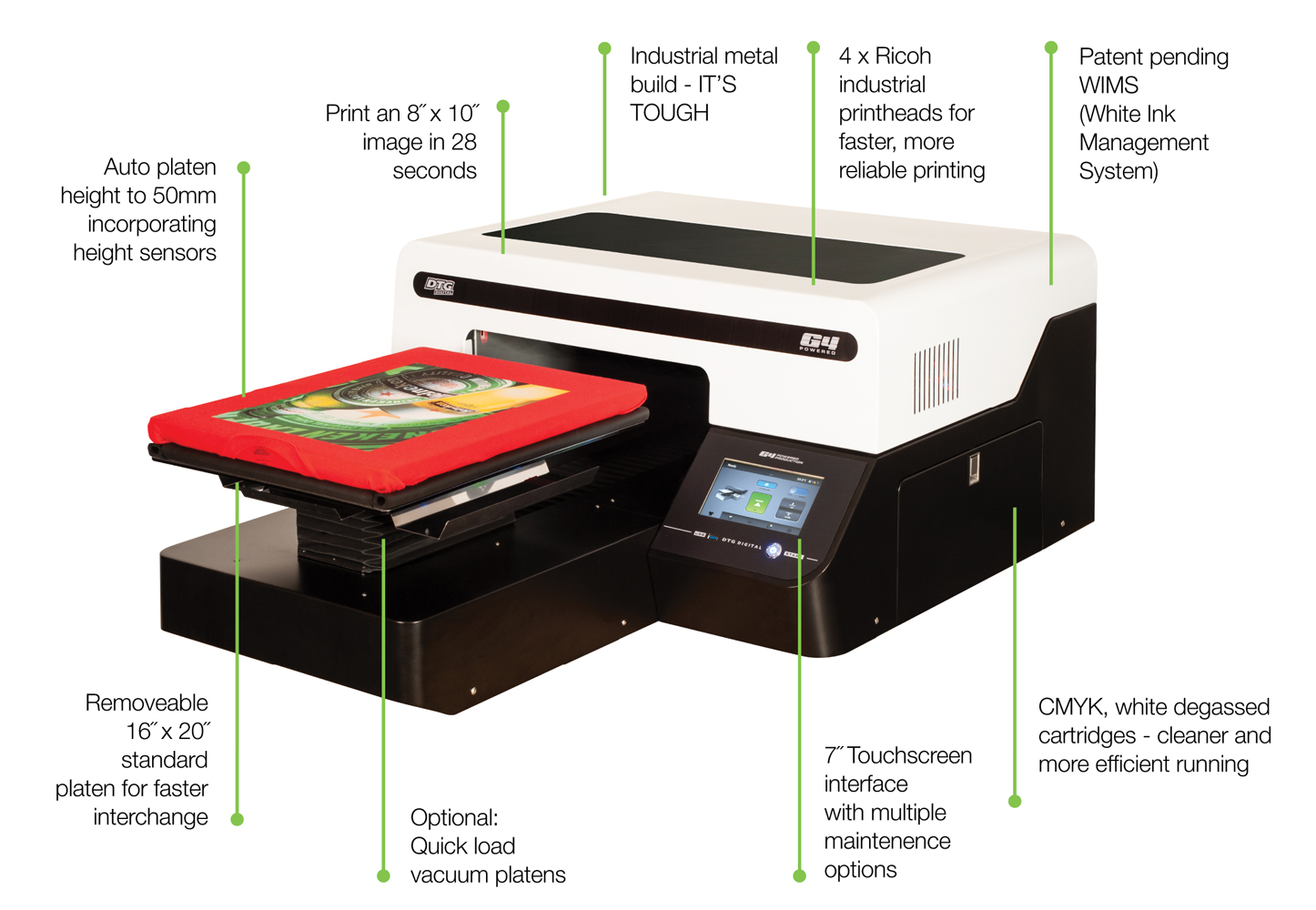 07b71aecc The DTG G4 Direct to Garment delivers speed performance and quality prints  with unprecedented trouble free operation DTG G4 .